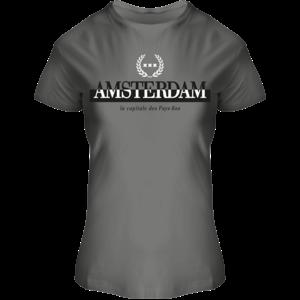 Holland fashion Ladies T-Shirt Round Neck - Amsterdam