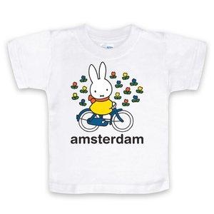 Nijntje (c) T-Shirt Miffy auf dem Fahrrad in Amsterdam