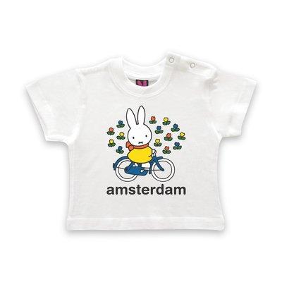 Nijntje (c) T-Shirt Miffy on the bike in Amsterdam