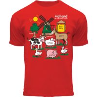 FOX Originals Kinder T-Shirt - Holland - Rood