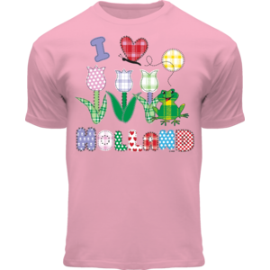 Holland fashion Kids T-Shirt - Holland - Pink - Patched