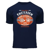 FOX Originals Kinder T-Shirt - Fiets - Blauw - Amsterdam bike district