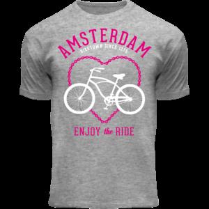 Holland fashion Kinder T-Shirt - Fiets - Sportief grijs - Bike