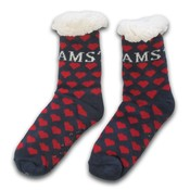 Typisch Hollands Fleece Comfort socks - Red hearts - I love Amsterdam
