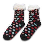 Typisch Hollands Fleece Comfort socks - colorful hearts - I love Amsterdam