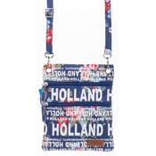 Robin Ruth Fashion Nektas - Paspoorttas - Holland Bloemen - blauw