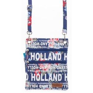 Robin Ruth Fashion Nektas - Paspoorttas - Holland Bloemen -blauw