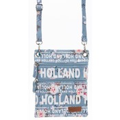 Robin Ruth Fashion Nektas - Passport bag - Holland Flowers blue