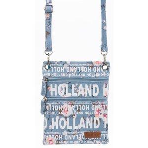 Robin Ruth Fashion Nektas - Passport bag - Holland Bloemen -blue