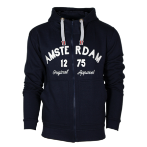 Holland fashion Hoodie with Zipper - Amsterdam - Original Apparel - Blue