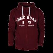 FOX Originals Hoodie met Rits - Amsterdam - Original Apparel - Bordeaux