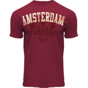 FOX Originals T-Shirt- Maroon  Amsterdam  - Wings -1275