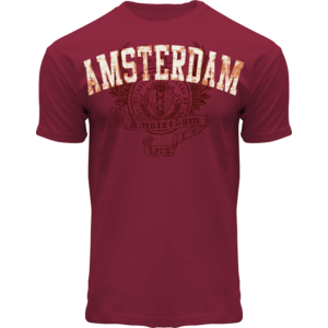 FOX Originals T-Shirt- Maroon  Amsterdam  - Wings -1275
