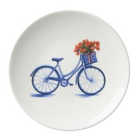 Typisch Hollands Bicycle sign 16 cm - Modern blue