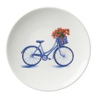 Typisch Hollands Fahrradschild 16 cm - Modern blau