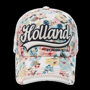 Robin Ruth Fashion Holland Cap - mit Blumendruck (Textstickerei)