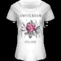 FOX Originals T-Shirt Amsterdam - Flowers-white-pink