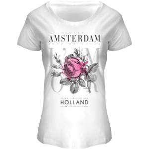 FOX Originals T-Shirt Amsterdam - Flowers-white-pink
