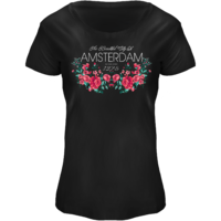 FOX Originals T-Shirt Amsterdam - Boot-Ausschnitt Blumendruck