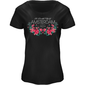FOX Originals T-Shirt Amsterdam - Boat neck flower print