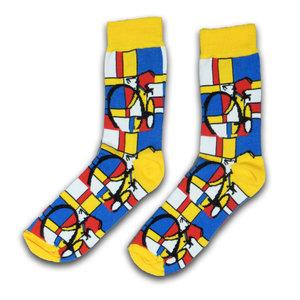 Typisch Hollands Mondriaan  dames-sokken - ( Art collection)