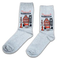 Holland sokken Damensocken - Amsterdam - Fassade bringt Amsterdam unter