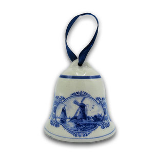 Typisch Hollands Christmas bell mills - Delft blue