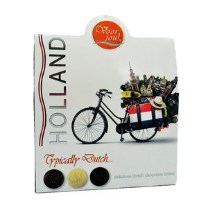 """Typisch Hollands Holland chocolate gift box - """"for you"""" - bicycle"""