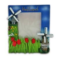 Typisch Hollands Fotorahmen Holland - Mühlen & Tulpen