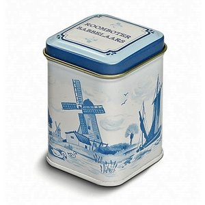 Typisch Hollands Zeeland chatterers in Delft blue mini tin