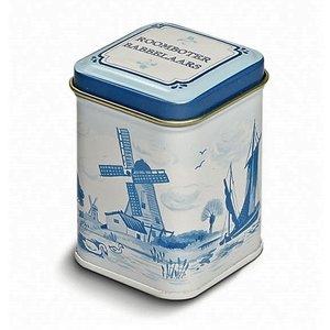 Typisch Hollands Zeeuwse babbelaars in Delfts blauw miniblik