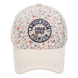 Robin Ruth Ladies cap Amsterdam floral pattern (beige)