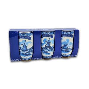 Typisch Hollands Gift set of 3 coffee cups - Holland - Mills