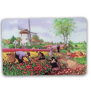 Typisch Hollands Placemat traditioneel - tulpenplukkers