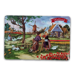 Typisch Hollands Traditionelle Tischset - Mühle - Bauernhof