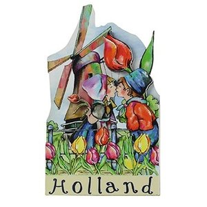 Typisch Hollands Magneet Holland - Molen - Boeren koppel
