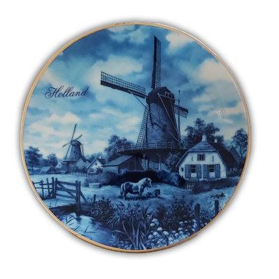 Typisch Hollands Wandbord Holland 15 cm in luxe geschenkdoos