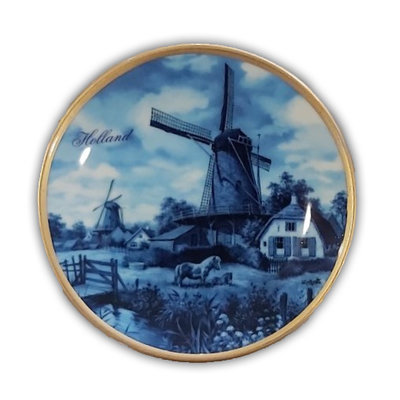 Typisch Hollands Holland Teller 10 cm in Luxus Geschenkbox