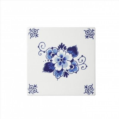Typisch Hollands Delfter blaue Fliese mit einem Blumenmuster