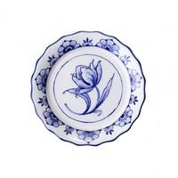 Typisch Hollands Wellenförmiger Untersetzer mit Delfter Blau - Porzellan