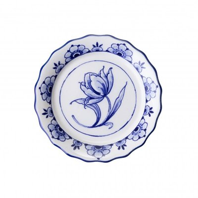 Typisch Hollands Scalloped coaster with tulip