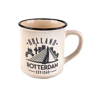 Typisch Hollands Mok - Rotterdam - Campusmok Wit in giftbox