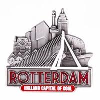Typisch Hollands Magnet Erasmus bridge Rotterdam tin