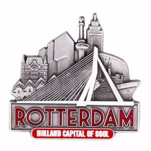 Typisch Hollands Magnet Erasmusbrücke Rotterdam-Zinn