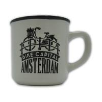 Typisch Hollands Kleine Tasse in Geschenkbox - Amsterdam - Weiß