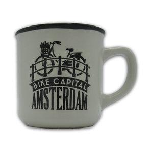 Typisch Hollands Kleine mok in geschenkdoos - Amsterdam - Wit