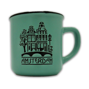 Typisch Hollands Small mug in gift box - Amsterdam - Green