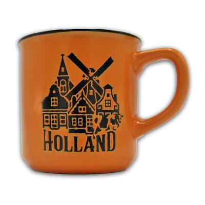 Typisch Hollands Kleine Tasse in Geschenkbox - Holland Orange