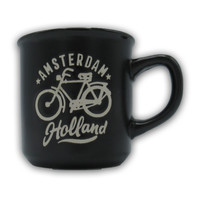 Typisch Hollands Kleine mok in geschenkdoos - Holland- Zwart