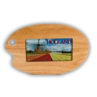 Typisch Hollands Cheese board palette with glass tile Holland